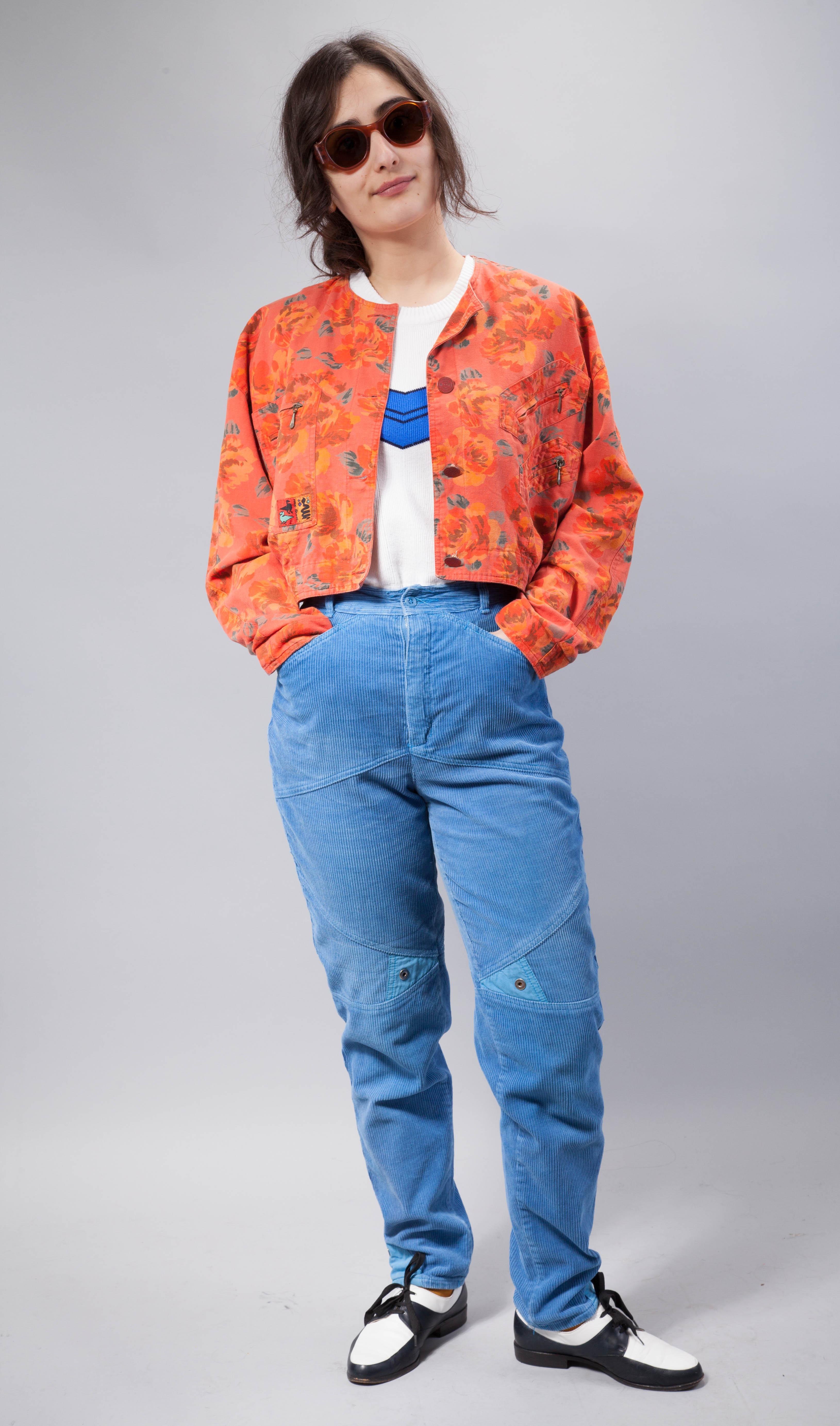 90er jahre vintage esprit cordhose in blau vintagekollektiv for 90er mode damen