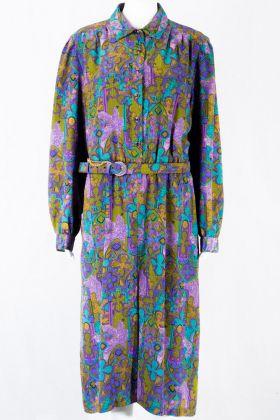 Klassik 60's Vintage Kleid -L-