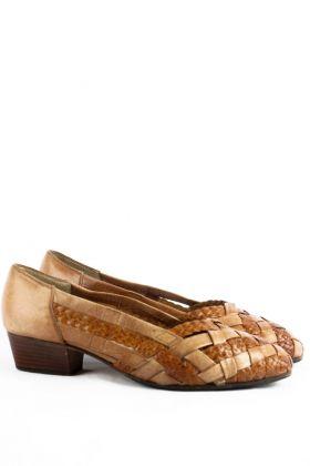 Vintage Flechtleder Schuhe -38-