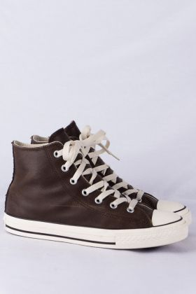 Converse Chucks HI Sneakers gr. 4 1/2 37 chocolate brown Leder Limited Edition