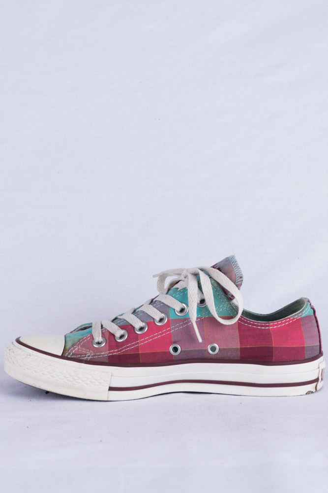 Converse Chucks HI Lo Sneakers 5 37.5 Kariert Limited