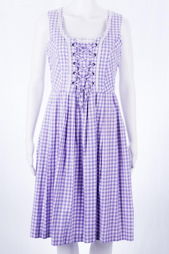 designer fashion bd4f6 9172b Y.O,U. Folklore Kleid 38 S M Vintage Dirndl Lila ...
