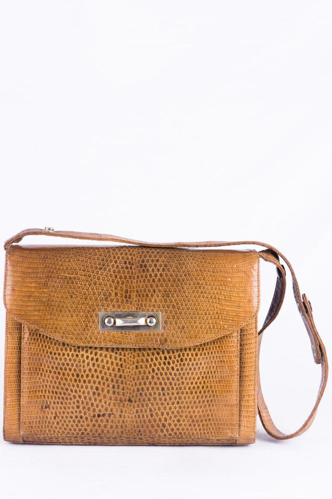 save off dc593 09d69 Elegate 50er Jahre Handtasche mit Reptilprägung aus Leder ...