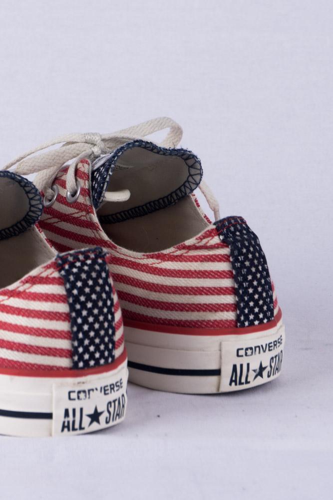 Converse Chucks HI Lo Sneakers 5 37.5 USA Flag Print Limited