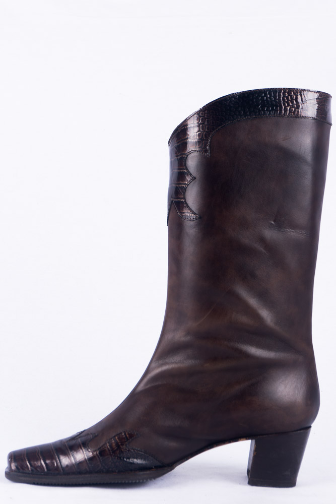 37 Boots Patina Brunella Italy Stiefel Vintage 5 D29EHI