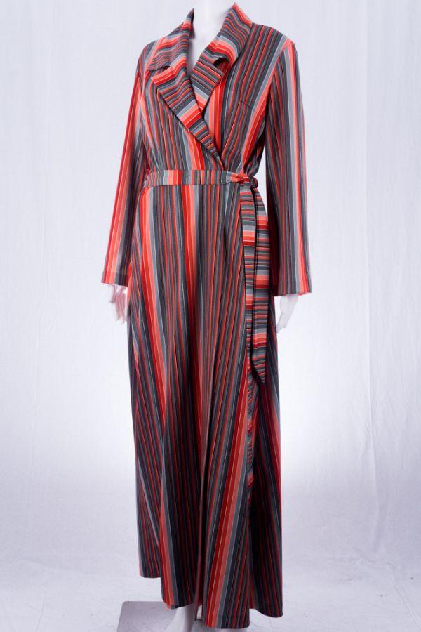 vintage kleid bodenlang 42 70er jahre mode im online shop vintagekollektiv. Black Bedroom Furniture Sets. Home Design Ideas