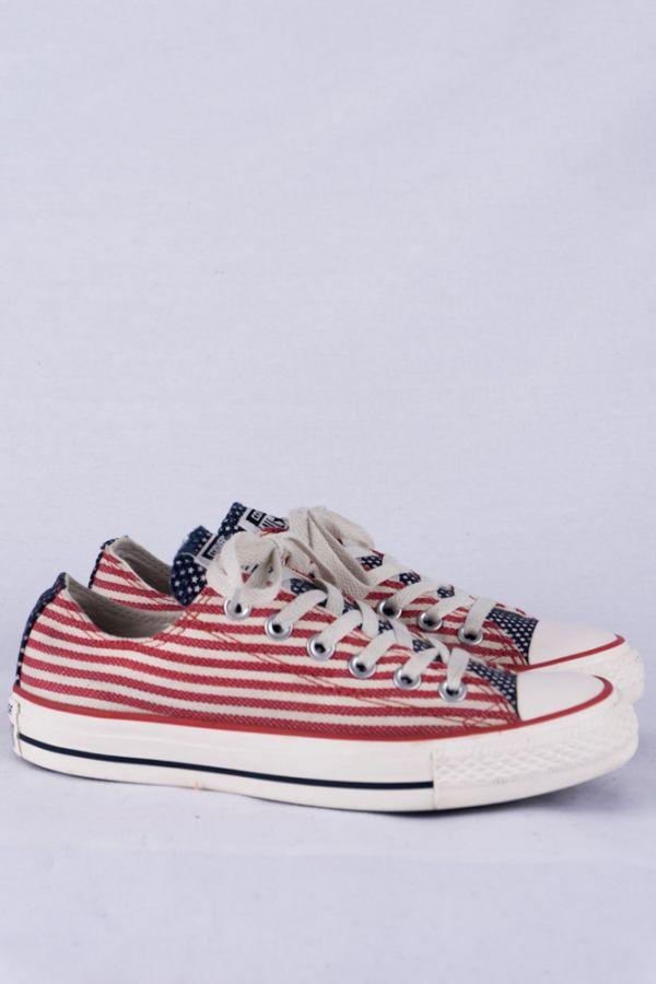 Details zu Converse Chucks HI Lo Sneakers 5 37.5 USA Flag Print Limited Edition Turnschuhe
