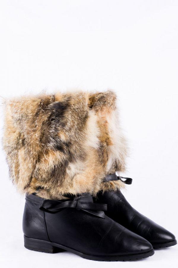 2019 heißer verkauf Professionel Online-Verkauf Vintage Stiefel 38 Fell Futter Stiefelette 5,5 padded fur boots ...